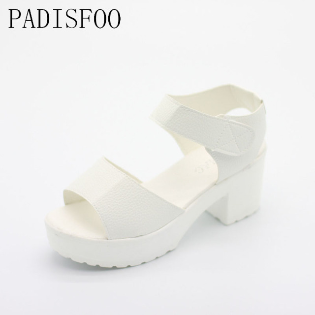POADISFOO sandals women Summer shoes Woman wedges platform sandals high heel soft  women shoes sanglaide shoes thick heel .XL-21
