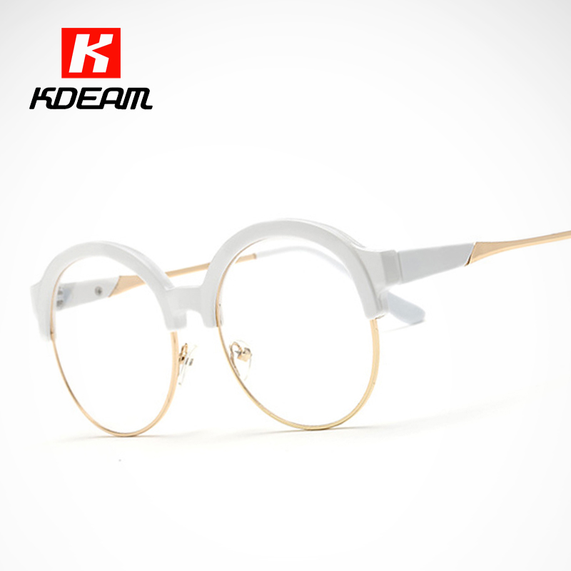 fashion witchcraft school round glasses frame porcelain white eyeglasses for women lentes opticos mujer with case uv400 ce in eyewear frames from mens - White Frame Eyeglasses