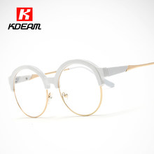 9f8f2c7c519 Fashion Witchcraft School Round Glasses Frame Porcelain White Eyeglasses  For Women lentes opticos mujer With Case UV400 CE