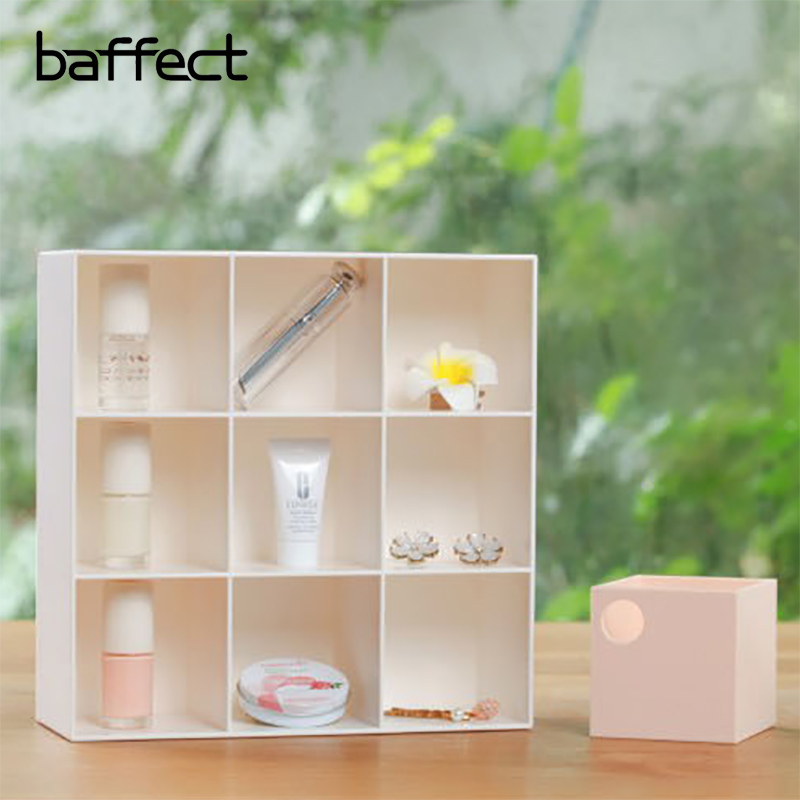 Baffect Multi-layered 9 Grids With Drawers Hollow Handle Cosmetic Makeup Jewelry Desk Accessories Organizer Storage Box Office