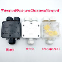 IP68 waterproof junction box, three-way one-in-two-out Black Belt terminal