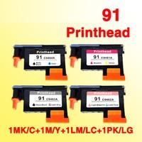 1 zestaw/4 sztuk 91 głowica drukująca kompatybilny dla hp 91 Designjet Z6100 Z6100P C9460A C9461A C9462A C9463A w Tusze do drukarek od Komputer i biuro na