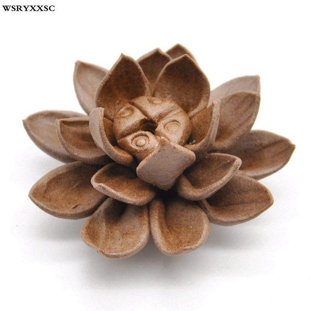 Lotus Censer,Joss-Stick,Argil Censer,Backflow fragrance Censer.Mini Incenen Burner.Air Fresher with Living Room Decoration