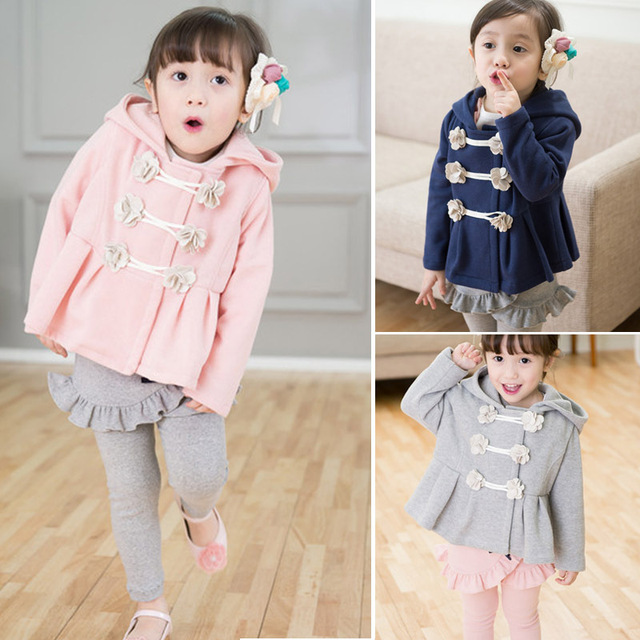 2015 New spring coat girls Floral Hoodies toddler girls' jacket with cap clothing for children girls hoodies baby & kids coat