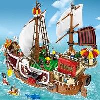 2000 шт. идея один кусок лодка строительные блоки Совместимые Legoed идея пиратский корабль интерактивные игрушки для детей Подарки