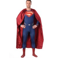 High Quality Men S Spandex Superman Cosplay Costumes Adults Lycra Zentai Male Suits Halloween Men Super