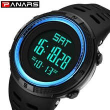 PANARS Digital Watch Men Sport Water Resistant Electronic Wrist Watches LED Stopwatch Chronograph Mens Watches Top Brand Luxury