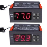 12V 24V 110V220V Digital Tube Temperature Controller Thermostat Centigrade 30 300C 22 572F Two Displays Cooling