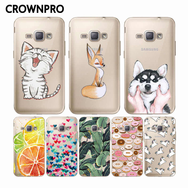CROWNPRO Silicone TPU Case VOOR Samsung Galaxy J1 6 2016 Soft Clear Gevallen J120 J120F J120H Back Cover sFOR Samsung J 1 2016 Telefoon