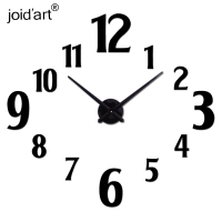 2018 new wall clock modern design reloj de pared quartz watch large decorative clocks europe living room acrylic 3d stickers
