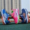 2016 Niños de cuero Deportivos de Aire colchón Transpirable Niños Zapatillas para Niños Zapatos para Niños y Niñas casuales Maxs Tamaño 31-37 Corriendo