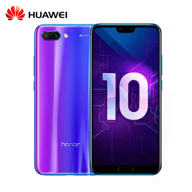 Huawei оригинальную прошивку Honor 10 Android 8,1 4G LTE смартфон 3D изогнутые Стекло Kirin 970 AI Processor 5,8 дюймов 2280×1080 24MP