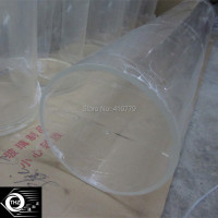 THZ Wholesale Retail Industry High Clear Plastic Acrylic Plexiglass Casting Round Tube OD500x10x1000mm Can Cutting Any