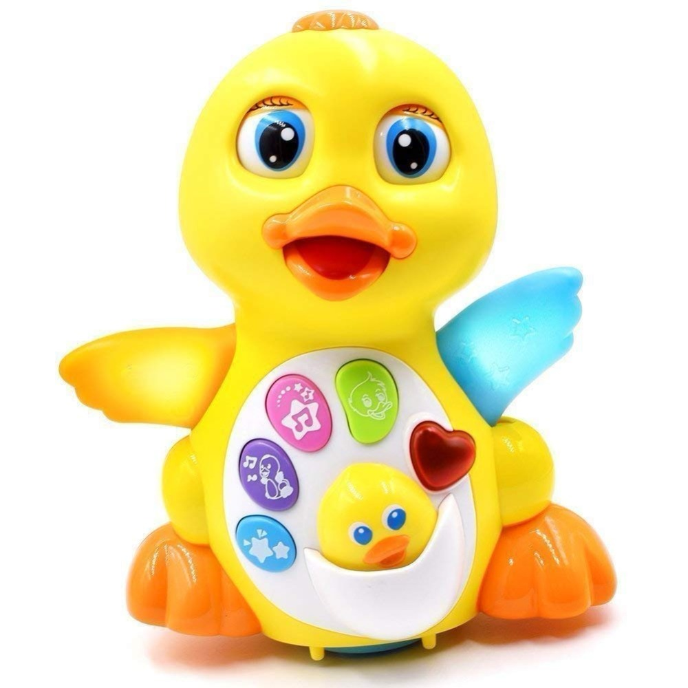 цена на Lovely Dancing Yellow Duck Early EQ Education ,Music and Learning ,Walking Toys for Toddlers Boys & Girls