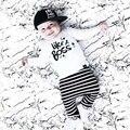 2017 Горячие детские начале осени детская одежда устанавливает дети Футболки брюки 2 шт./компл. письмо Like A Boss мальчики девочки костюмы