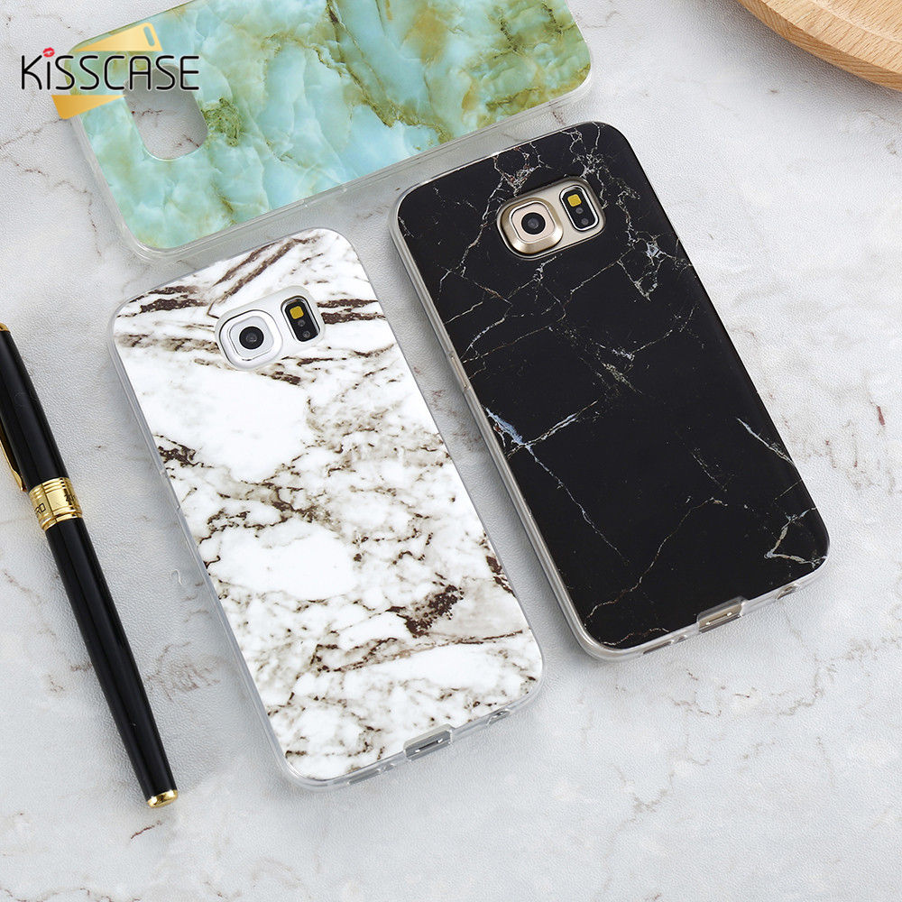 KISSCASE Marble Skin Case For Samsung Galaxy S8 Plus S7 S6 Edge S4 Soft Silicon Phone