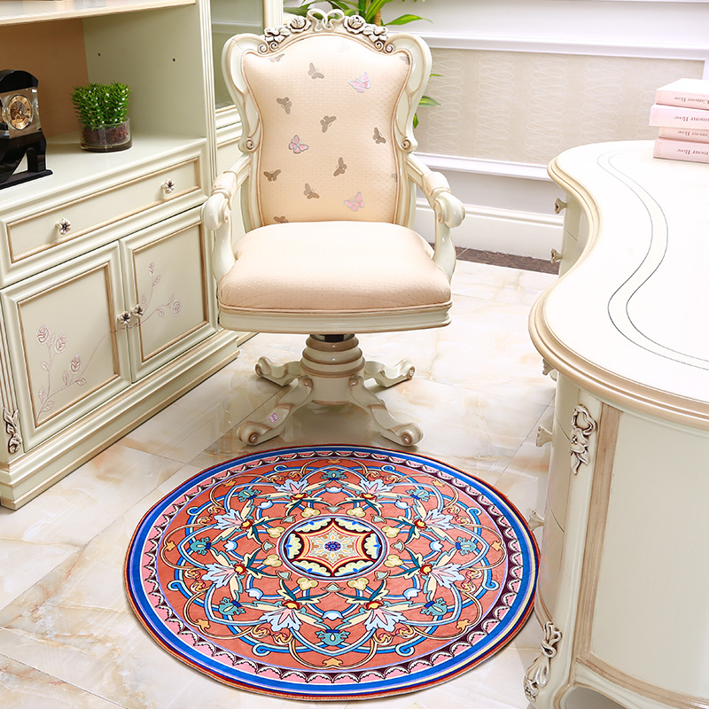 New National Folk Style Living Room Bedroom Carpet Entrance Round Table  Cushion Bed Rug Household Computer Foot Pad In Carpet From Home U0026 Garden On  ...