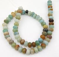 Unique Pearls jewellery Store Charming Rondelle Amazon Jasper 10mm Gemstone Beads Full Strand 15''