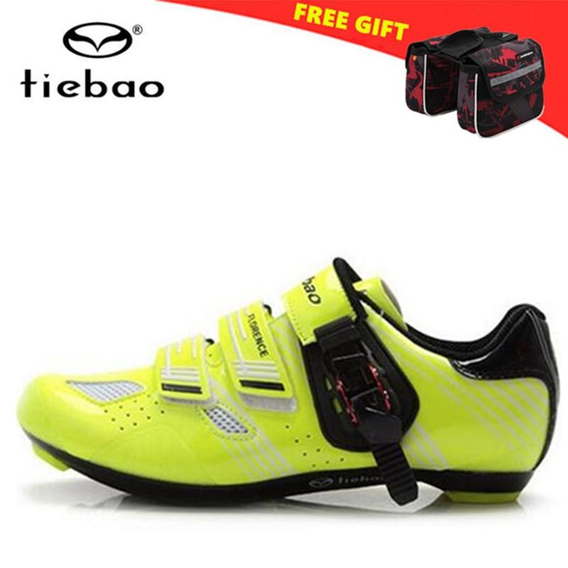 Tiebao Road Radfahren Schuhe Männer Scarpe Da Ciclismo Bike Schuhe Reiten Racing Schuhe Zapatillas Deportivas Mujer Männer Reiten Schuhe Jade Weiß Fahrradschuhe Turnschuhe