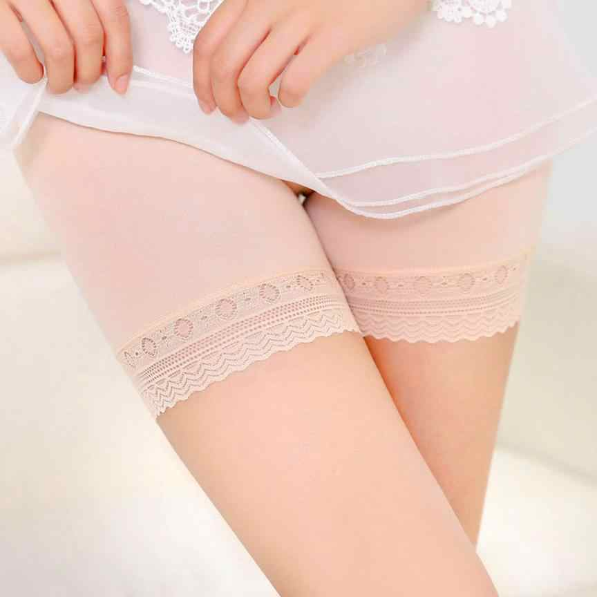 Feitong 女性レースティアードスカートソフト綿シームレスな安全の下で安全パンツ下着通気性パンツタイツ