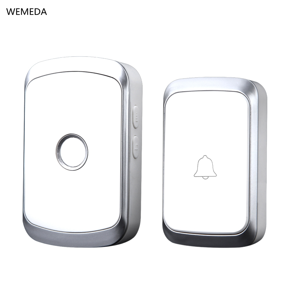 WEMEDA Newest <b>Wireless Doorbell Waterproof</b> Battery Button EU ...
