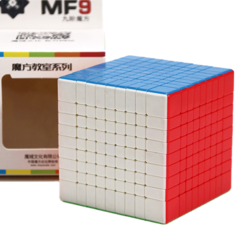 Moyu Mofang salle de classe MF9 Cube magique 9 couches Cube noir/blanc/sans autocollant 9x9x9 Cube Puzzle jouets pour enfants enfants jouets