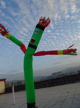 Inflatable Wave One Leg Multicolor Arms Air Dancer Sky Dancer 4m  Advertising Inflatables shadow dancer