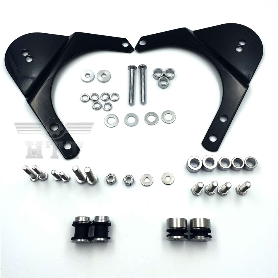 Rear Docking Hardware Kit For 1997-2008 Harley Davidson Touring Road King Road Glide Electra Glide Standard Street Glide Black abs hard saddlebags latch keys for harley road king electra street glide 14 18