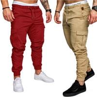 New Running Jogging Pants Men With Pockets Leisure Sweatpants Gym Men's Sports Pants Plus Size 4XL 3XL 9 Colors