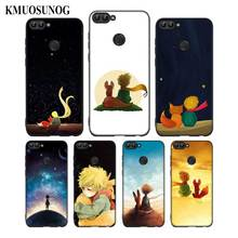 For Huawei P8 P9 P10 P20 P30 Pro Lite P Smart Plus Y6 Y9 2017 Black Soft Silicone Phone Case The Little Prince With the fox Styl