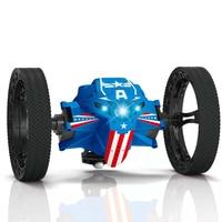 2.4G Remote Control Toys RC Car Bounce Car Jumping Car with Flexible Wheels Rotation LED Night Light RC Robot Car gift VS SJ88