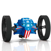 2.4G Remote Control Toys RC Car Bounce Car Jumping Car with Flexible Wheels Rotation LED Night Light RC Robot Car gift VS SJ88