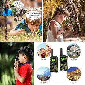 Image 5 - Przenośny Mini dzieci walkie talkie zasięg do 6km 8/20/22CH FRS/GMRS400 470MHZ Camo dwa radiotelefony domofon prezenty dla dzieci