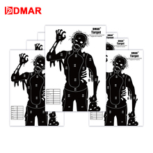 DMAR 42cm Zombie Shooting Target Paper Airsoft Silhouette Tactical Training Target Range Outdoor Indoor Bow Archery Accessory wosport wst box type reset shooting target linkage metal spinner outdoor indoor durable harmless steel archery airsoft gun