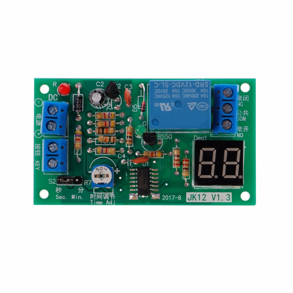 YF-4 Timer Relay Adjustable Cycle Delay Timer Relay Module DC 12V Digital Display Timing Delay Board Electrical Accessories