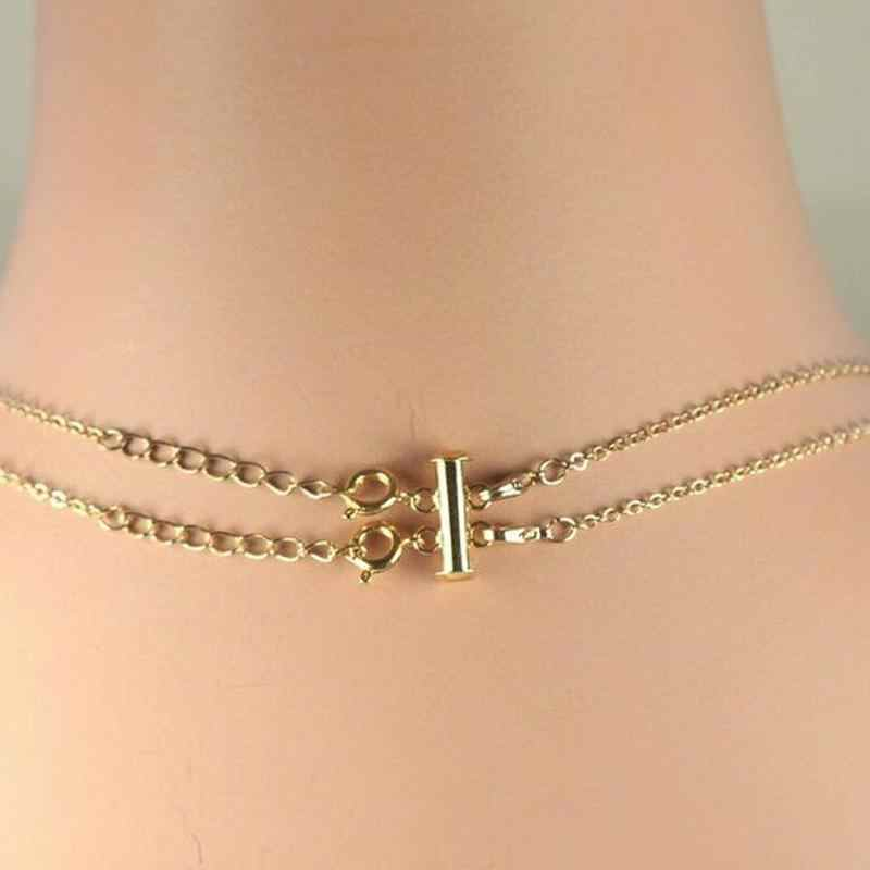 マルチストランドネックレス Detangler 絡みや結び目レイヤードネックレスクラスプのための女性のガールホットセール