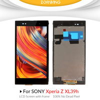 For SONY Xperia Z Ultra lcd Display Touch Screen Digitizer For SONY Xperia Z Ultra Display XL39h XL39 C6833 lcd with frame
