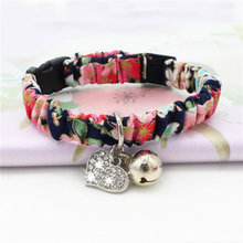 Cat Bell Collar For Cats Collier Pour Chat Elastic Japanese With Quick Release Supplier Fabric Pleated Elegant