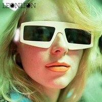 8f92e31535a LeonLion 2018 Square Frame Sunglasses Women Candy Color Luxury Vintage Sun  Glasses For Men PC Classic