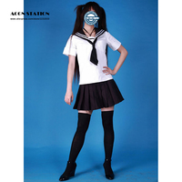 2018 Free Shipping Cute Short Sleeves Girl School Sailor Uniform Halloween Cosplay Costume Customize for plus size adults and ki