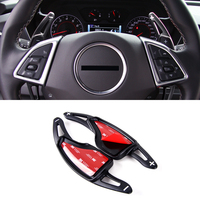 Interior Accessories Steering Wheel DSG Paddle Shift Extension 2pcs For Chevy Chevrolet Camaro 2016 2017