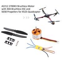 Drone A2212 2700KV Brushless Motor 30A Brushless ESC 5030 Propeller for X525 RC Quadcopter