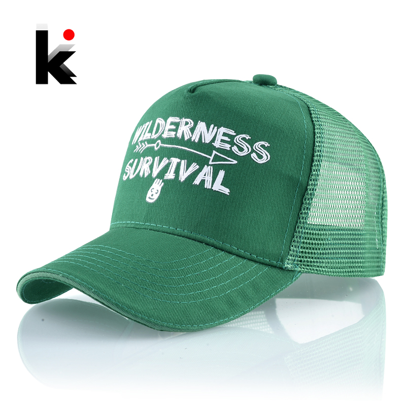 Men's Snapback Hats Summer Breathable Mesh Baseball Cap Women Fashion Letters Hip Hop Bones Unisex Solid Color Outdoor Sport Hat