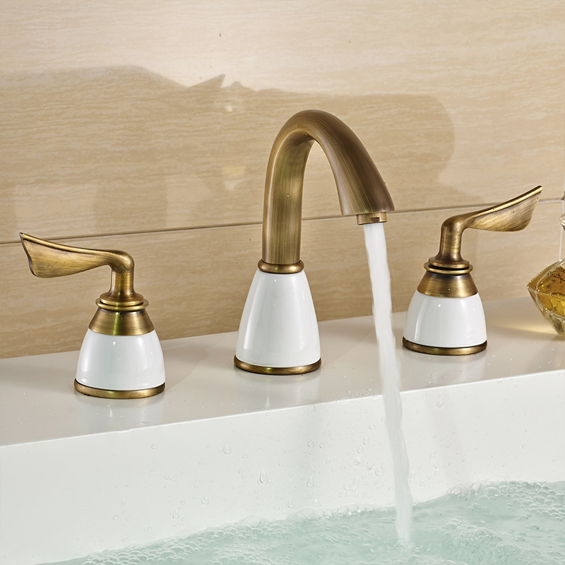 Luxus 3 Stück Set Wasserhahn Badarmaturen Deck Montiert Sink ...