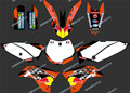 DST0250 New Style TEAM GRAPHICS&BACKGROUNDS DECALS STICKERS Kits for KTM SX65 2009 2010 2011 2012 2013