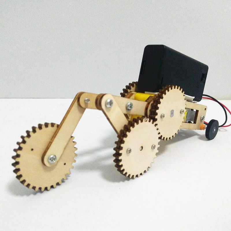 Happyxuan 3 סטי DIY המצאות מדע ערכת עץ משחקי ילד יצירה בית ספר פיסיקה ניסוי ילד 5 שנים צעצוע Creative עבודת יד