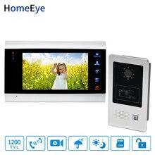 купить HomeEye 7'' Video Door Phone Video Door Bell 1200TVL Home Access Control System Waterproof RFID Motion Detection Touch Button по цене 8941.21 рублей