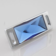 32mm Fashion Deluxe K9 Crystal handle Brown Blue green mauve Crystal pull silver cabinet dresser furntiure