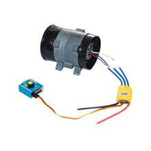 лучшая цена DIY Metal Culvert Fan Internal Rotor Brushless DC Motor Metal Ducted Three-phase Turbine Fan Motor for Pneumatic Hovercraft