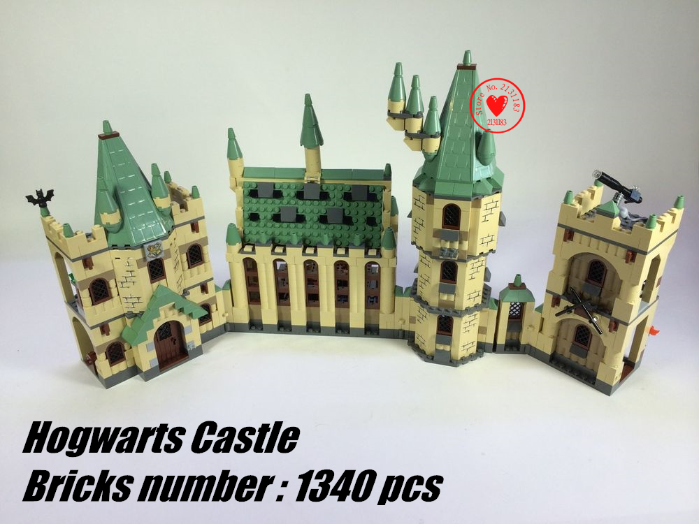2018 Harry Potter The Hogwarts Castle Movies Building Block Bricks 4842 Compatible legoes gift kid toy Castle boy Harry Potter 26pcs wooden fun big building block with animal brand top bright high quality for baby kid toy gift boy brinquedo menina tp048